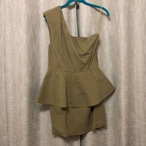 Dresses - Gold one strap dress